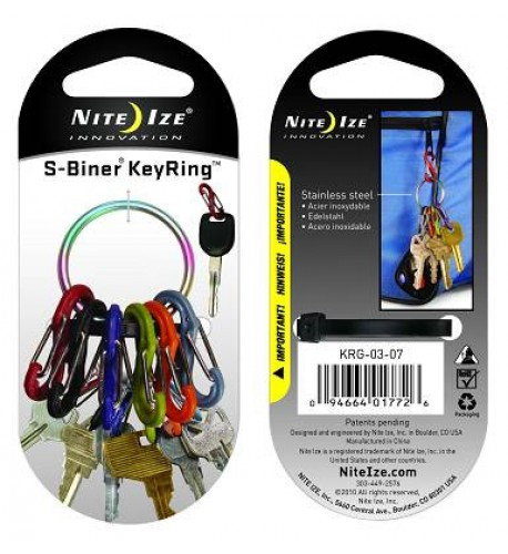 NITE IZE - Innovative Accessories - NI-KRG  - S-Biner Keyring