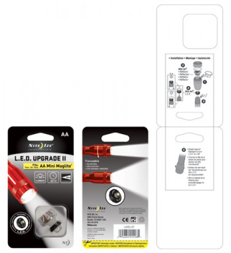 NITE IZE - Innovative Accessories - NI-LRB2-07 - LED Upgrade Kit II-AA Cell
