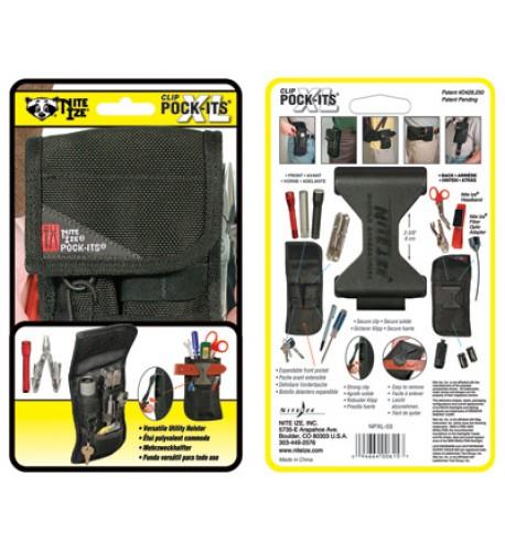 NITE IZE - Innovative Accessories - NI-NPXL-03 - Clip Pock-It's XL Utility Holster