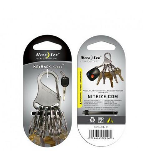 NITE IZE - Innovative Accessories - NI-KRK-03-01 - KeyRack Steel