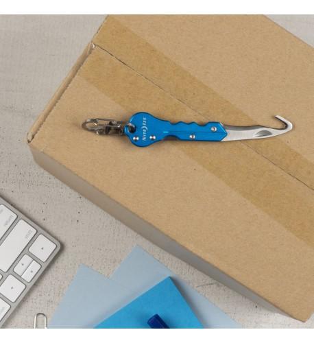 NITE IZE - Innovative Accessories - NI-KMTC-03-R7 - DoohicKey Key Chain Hook Knife, blue