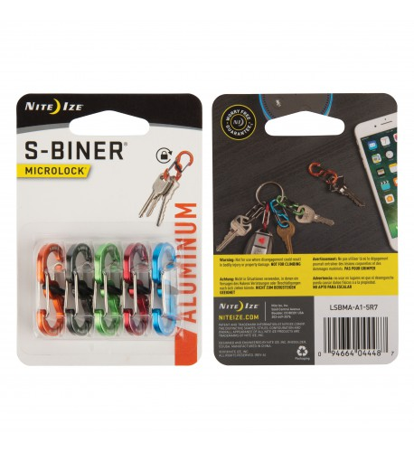 NITE IZE - Innovative Accessories - NI-LSBMA - S-Biner MicroLock Aluminum